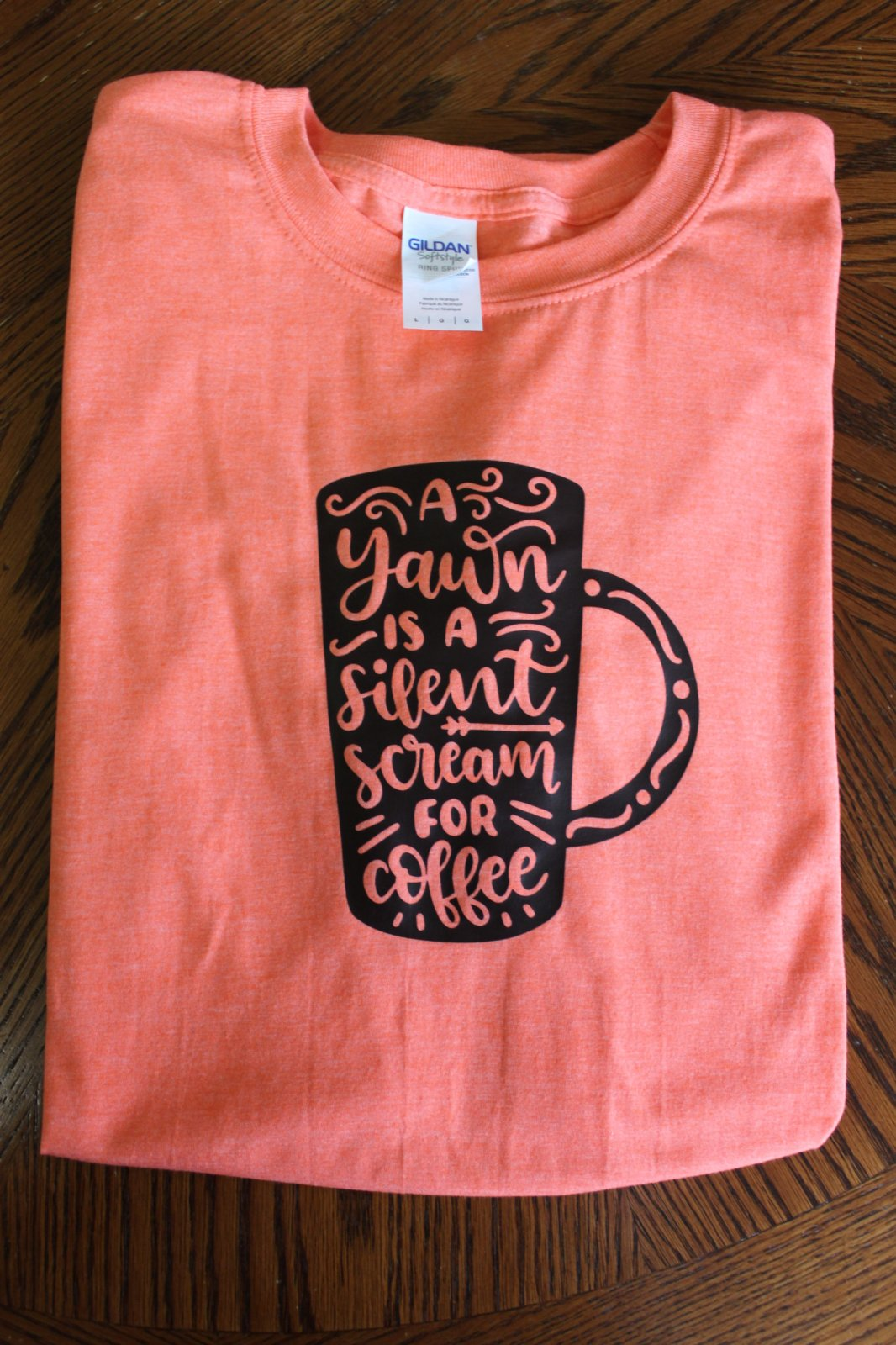 Coffee T-Shirt - Ring spun Adult Large