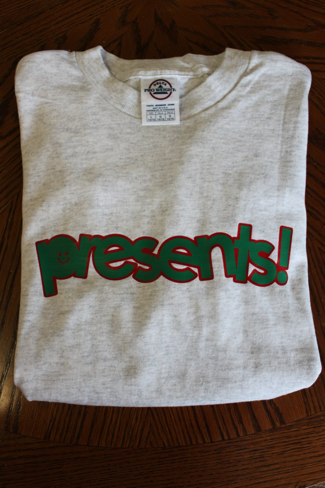 Presents T-Shirt - Youth Large 14/16