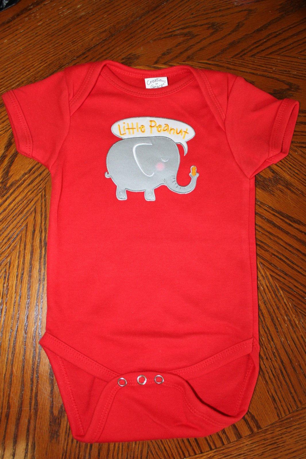 Little Peanut Elephant Onesie -  6-12 Months