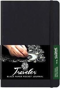 Black Paper Pocket Journal