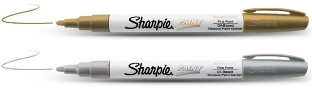 Sharpie Medium Point Oil-Based Paint Markers 2/Pkg Gold, Silver