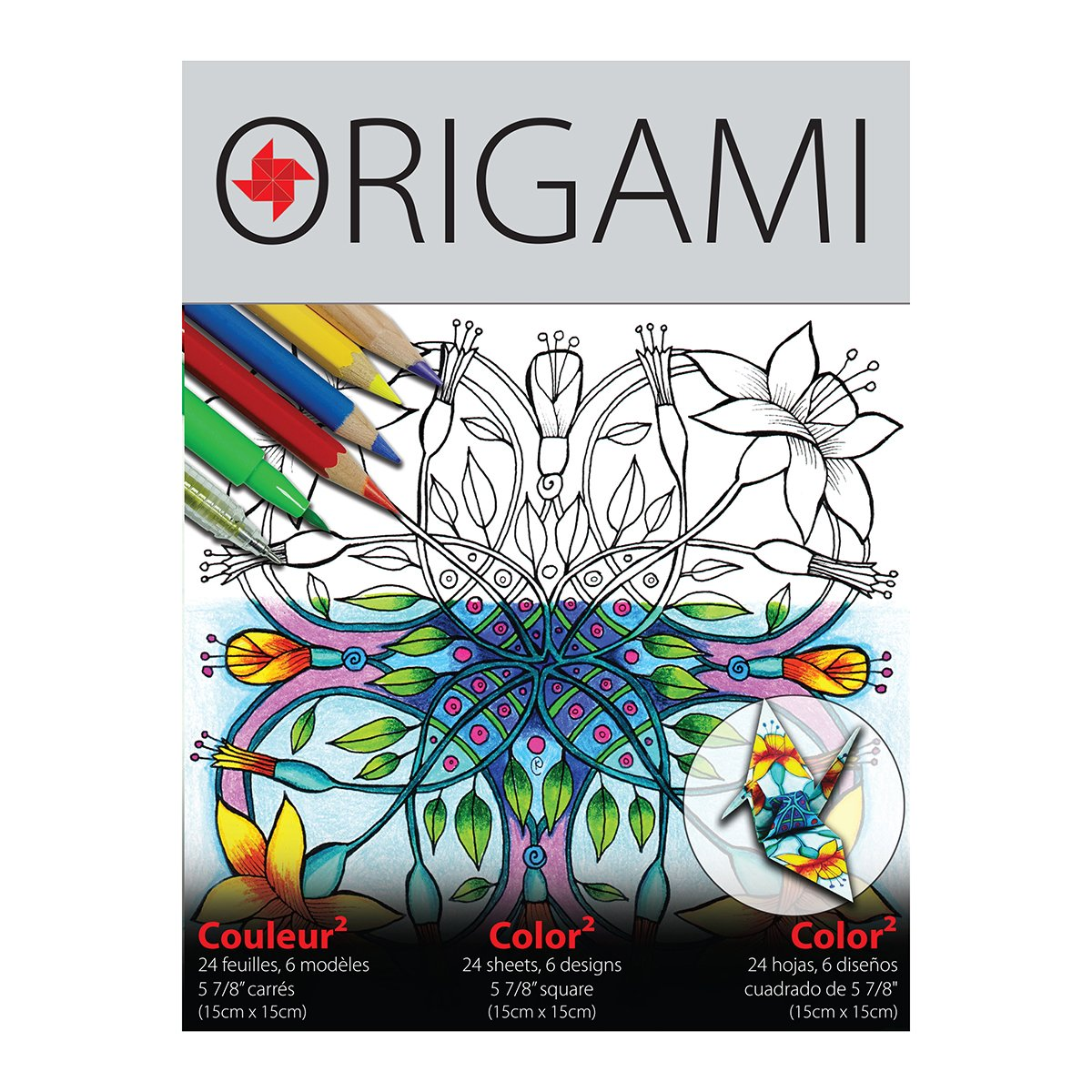 Yasutomo 5-7/8 Color Fold Origami 24 Sheet Pack
