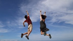 new yarn-jump for joy