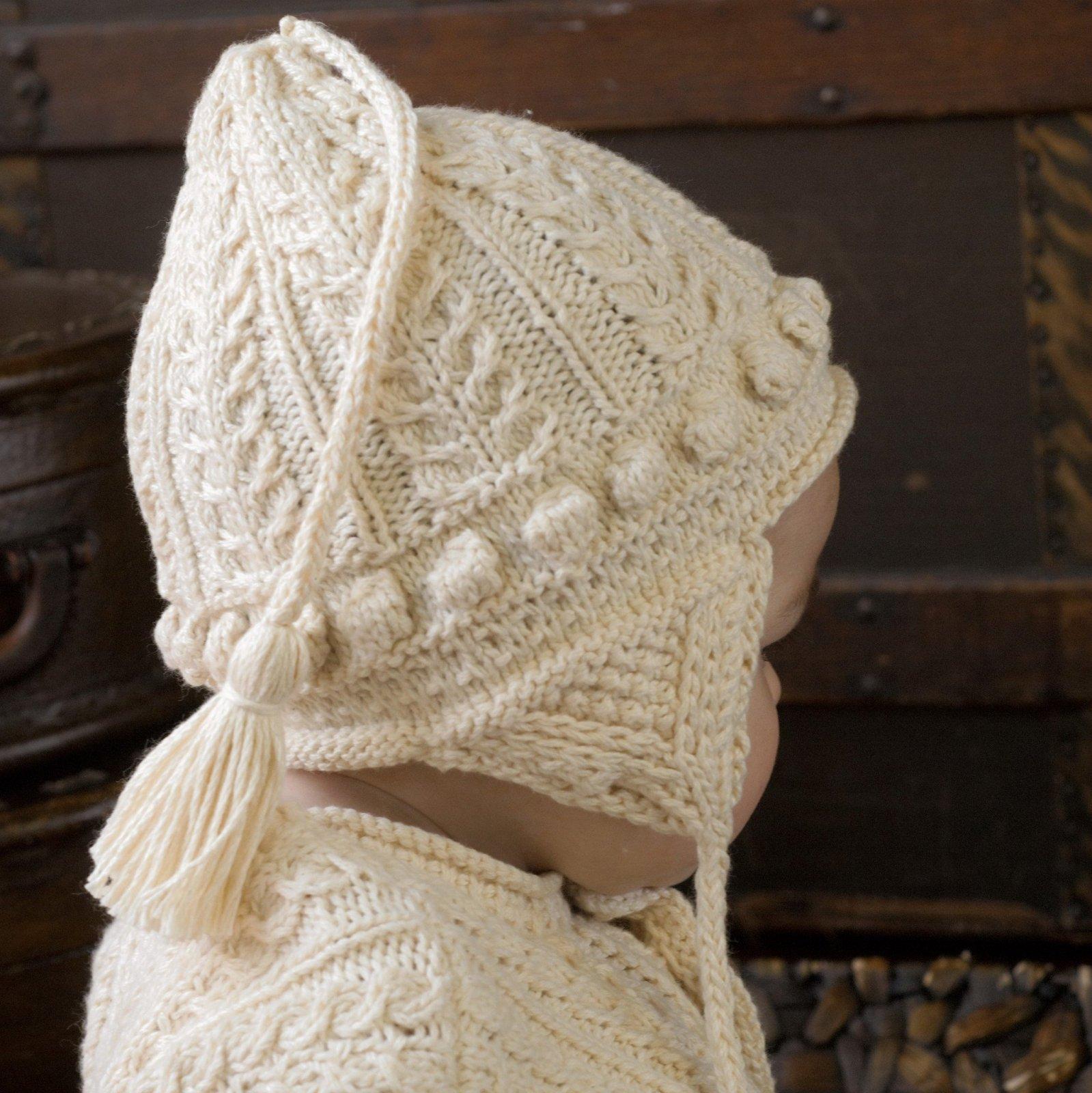Appalachian Baby Aran Earflap Hat