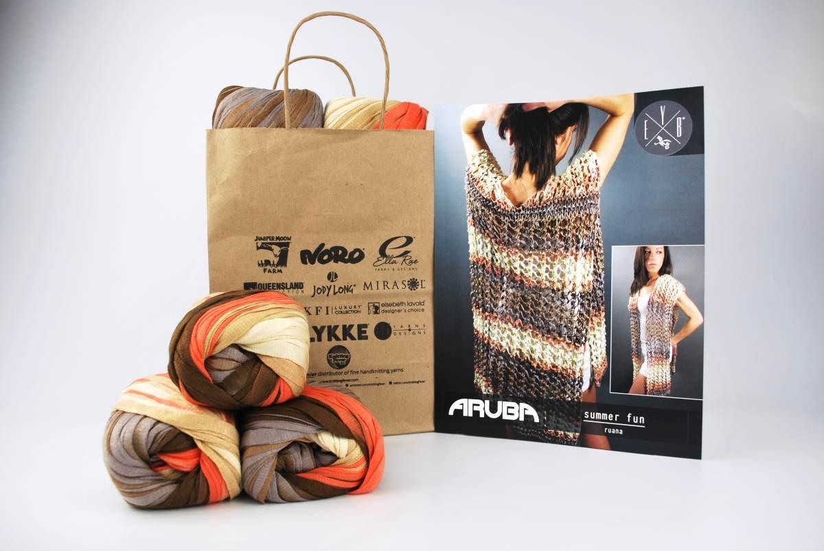 Summer Fun Ruana featuring Aruba