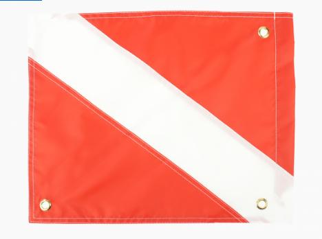 Dive Flag SS Stiffener-Nylon