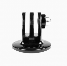 Black tripod mount adapter for GoPro