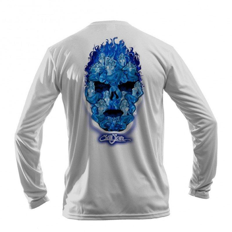 Mermaid Skull L/S Perform T-Shirt