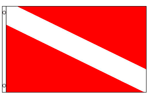 Nylon Diver Flag 3'x5'
