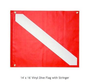 VINYL- Dive flag with Stainless Steel stiffener