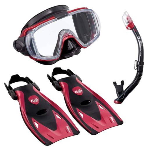 TUSA Sport Adult Visio Tri-Ex Black Series Snorkel Kit