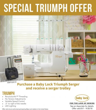 triumph serger trolley offer