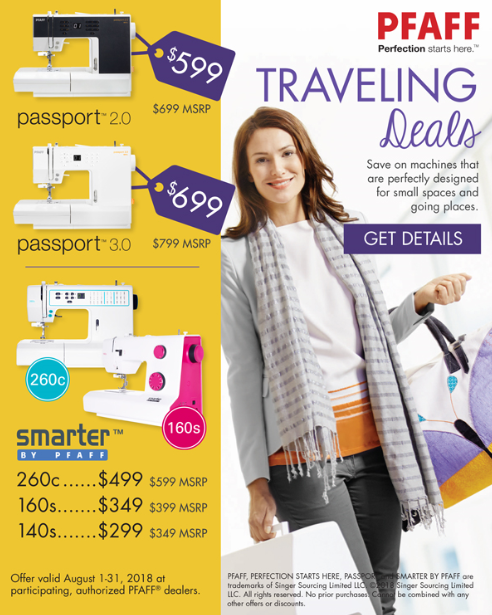 pfaff travel sale