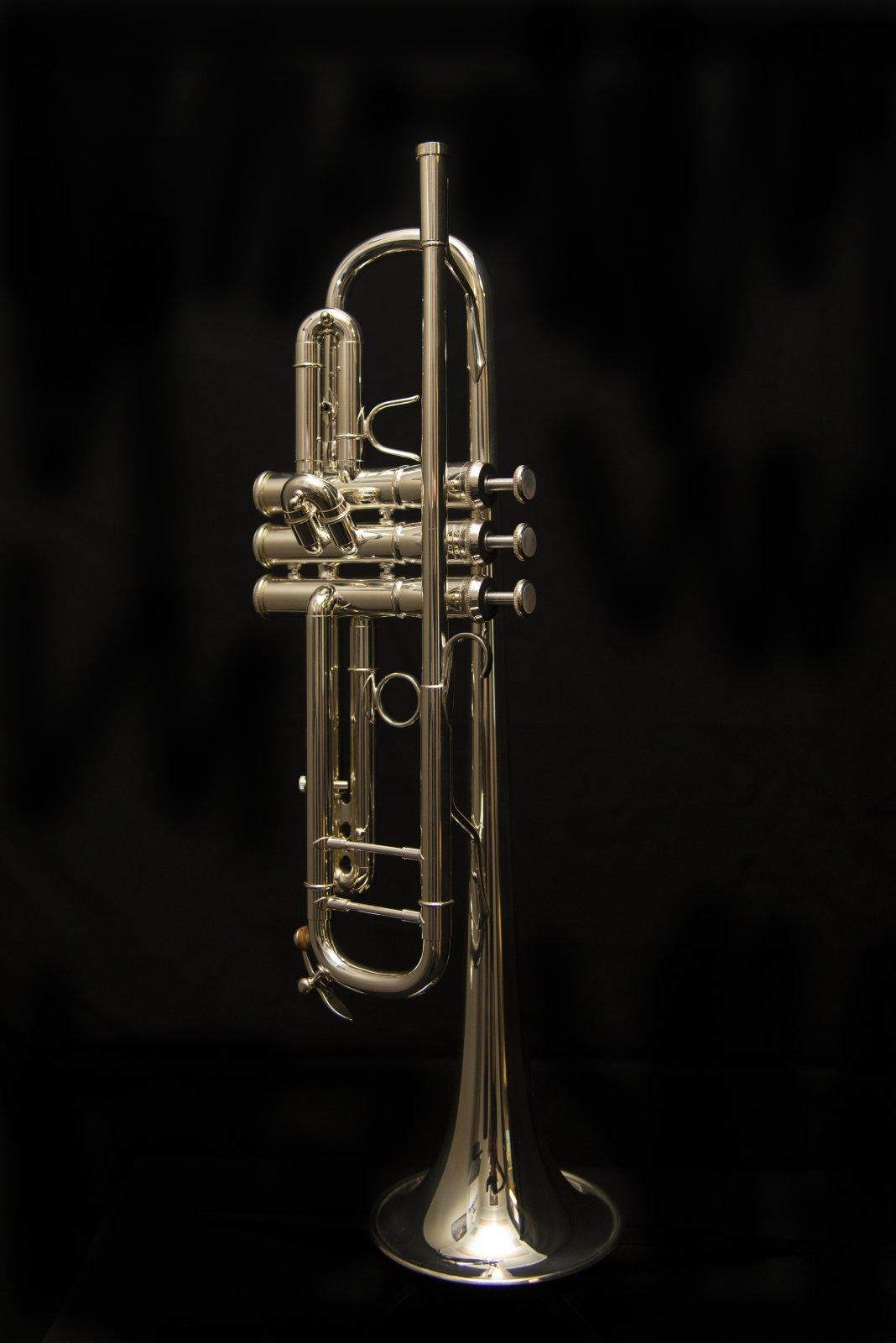 Adams A2 Custom Bb Trumpet, Silver Plated