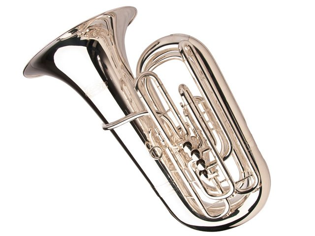 Adams Custom CC Tuba, Silver Plated