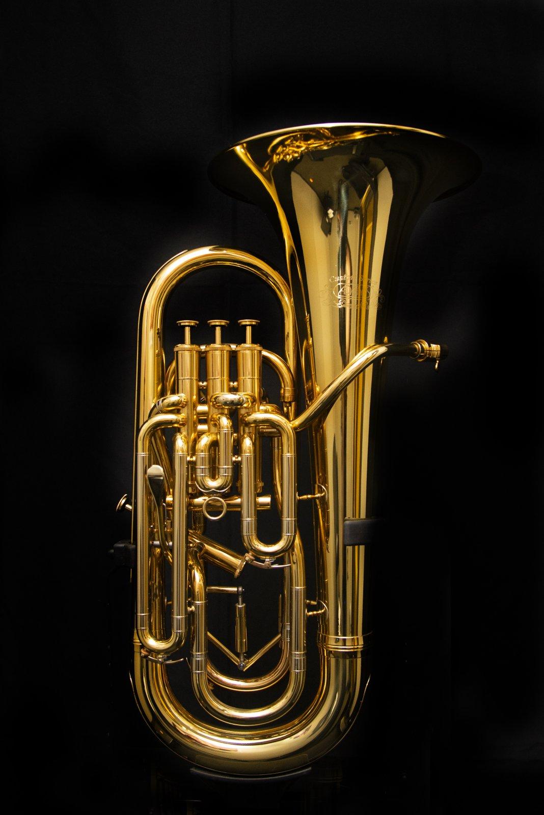 Adams E1 Custom Euphonium, Yellow Brass, Gold Lacquer