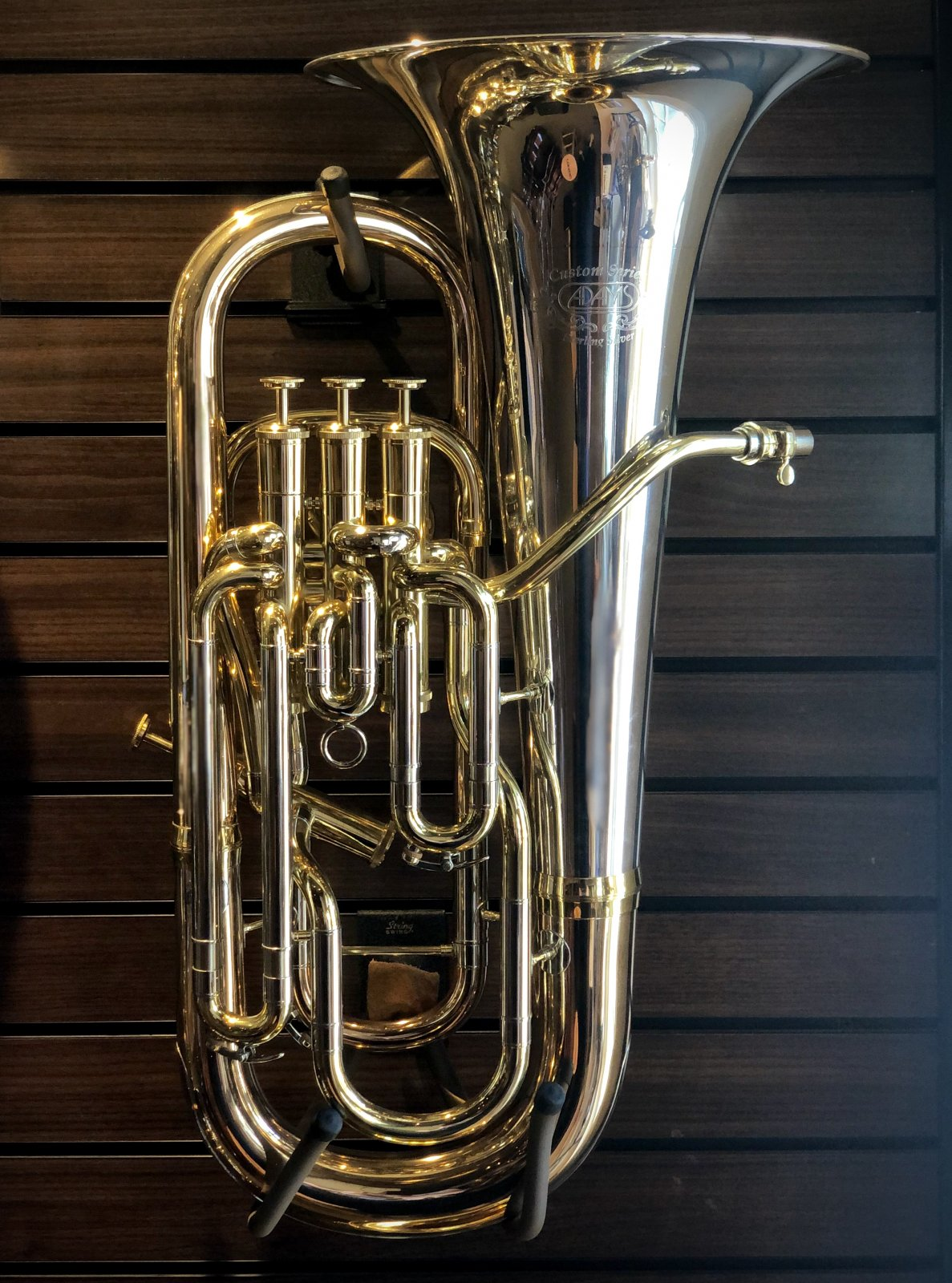Adams E3 Custom Euphonium, Sterling Silver, Clear Lacquer