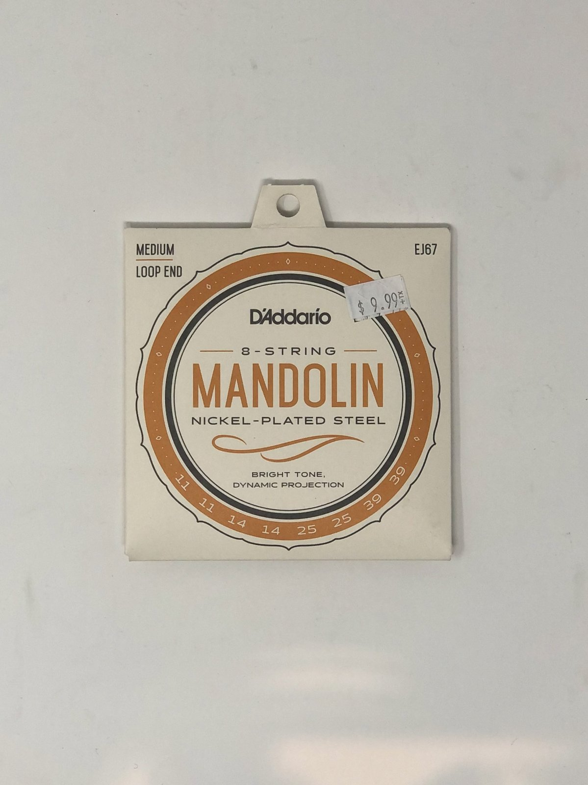 D'Addario EJ67 Mandolin Strings, Nickel-Plated Steel