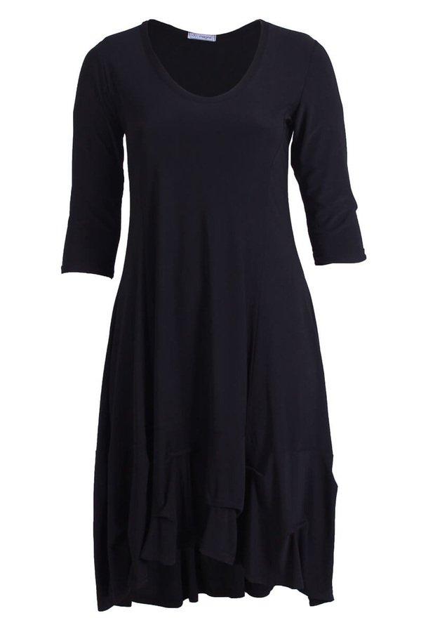 Curvy - Long High Low Dress w/ Ruffle Bottom