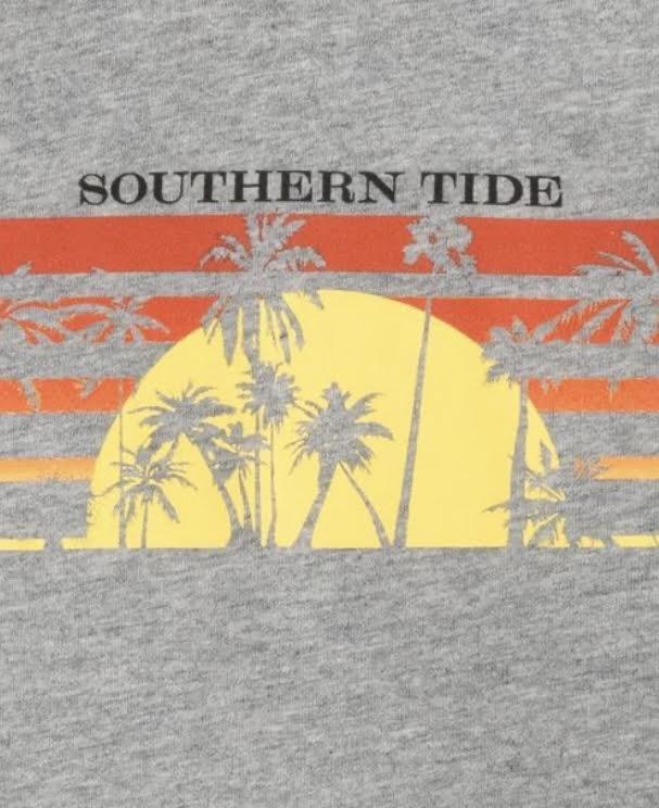 Southern Tide SS Heather Sunset Stripe Tee 6297