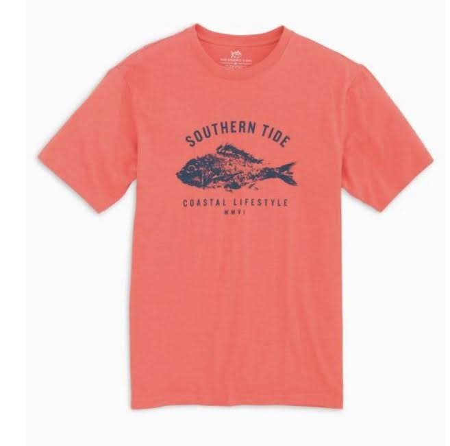 Southern Tide SS Fish Stamp Tee 6327