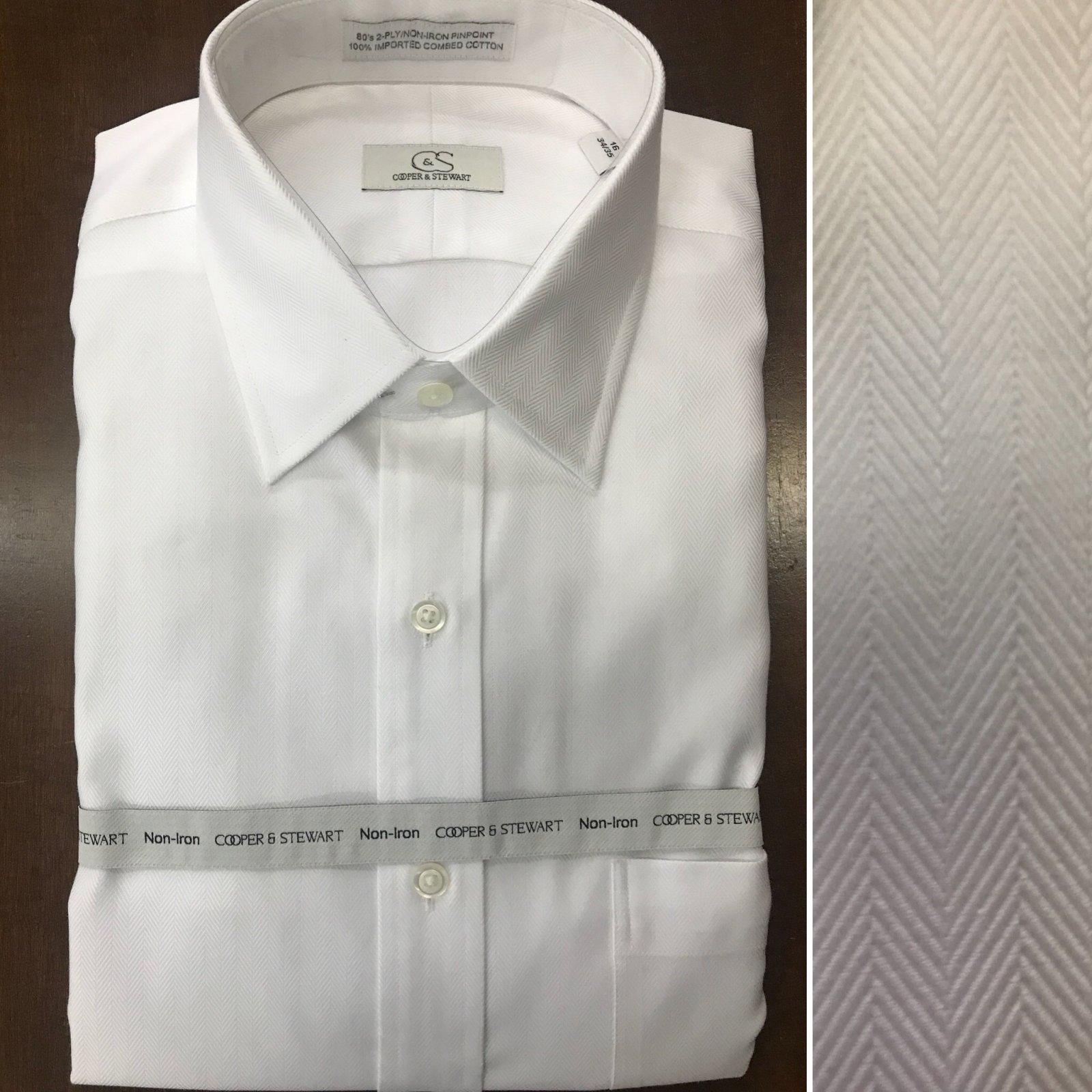 Cooper & Stewart Herringbone Dress Shirt (2)