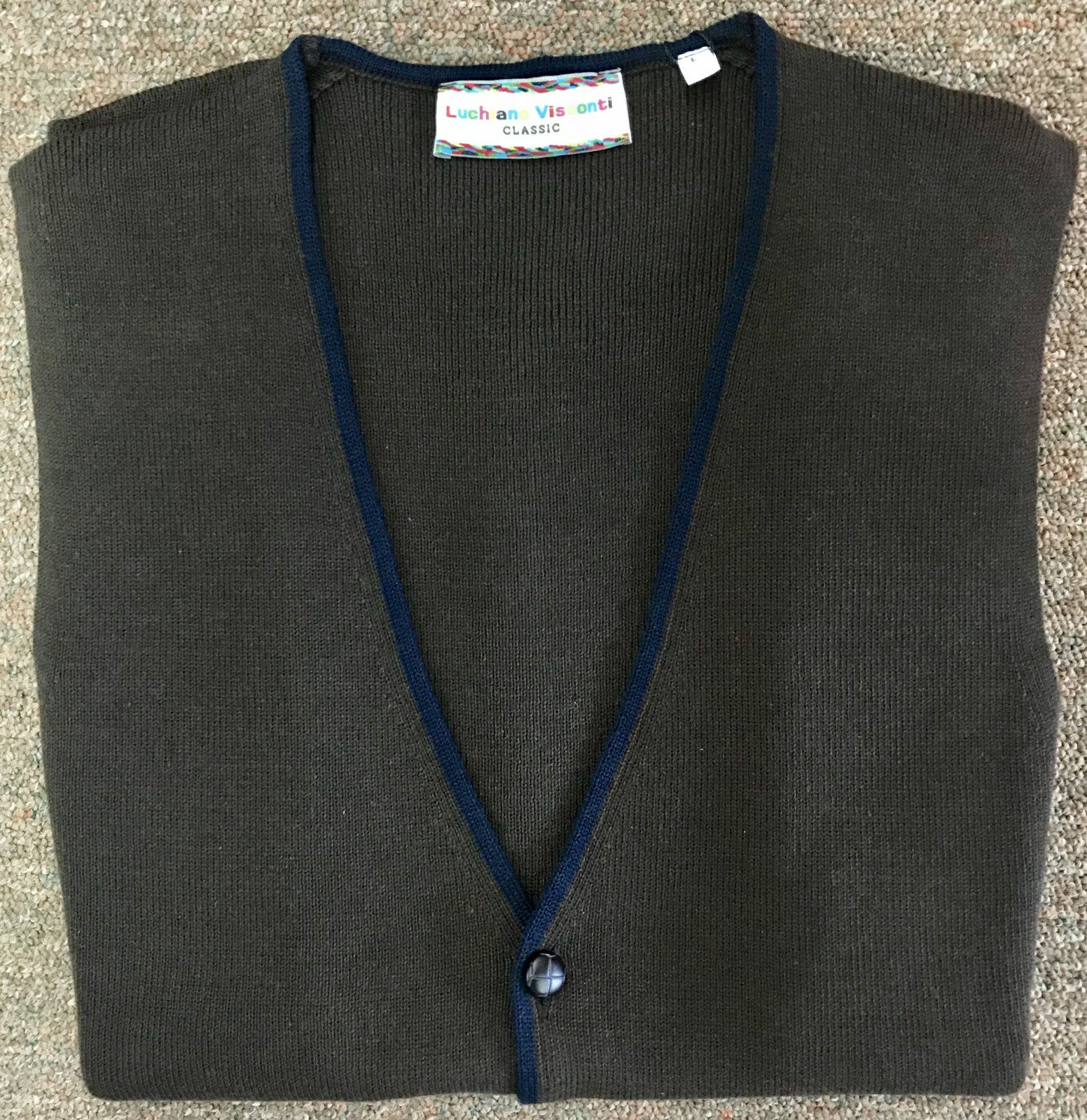Luchiano Visconto Full Button Sw. Vest 3906