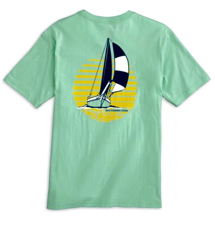 Southern Tide SS Sunset Sailing Tee 4803