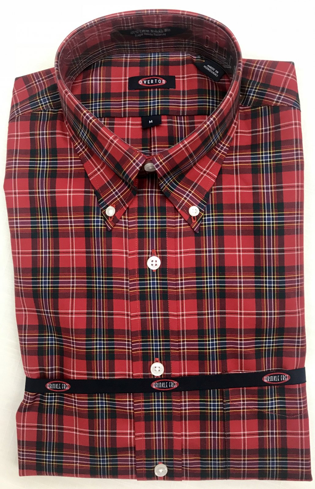Overton Red Plaid LS Sportshirt