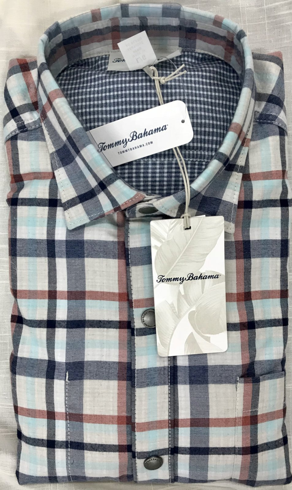 Tommy Bahama Duo Del Sol Plaid L/S Flannel Shirt