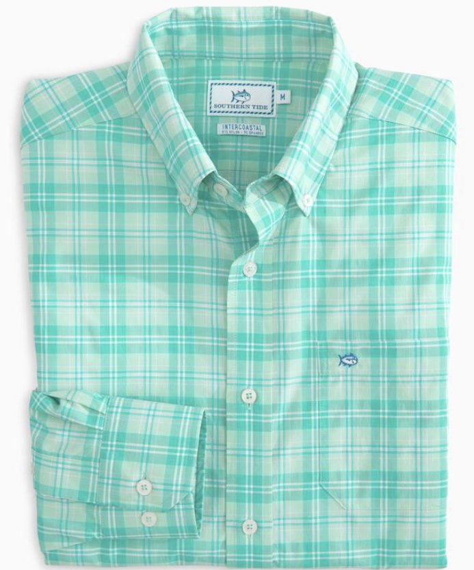 Southern Tide LS Convoy Plaid Intercoastal Sportshirt 4724