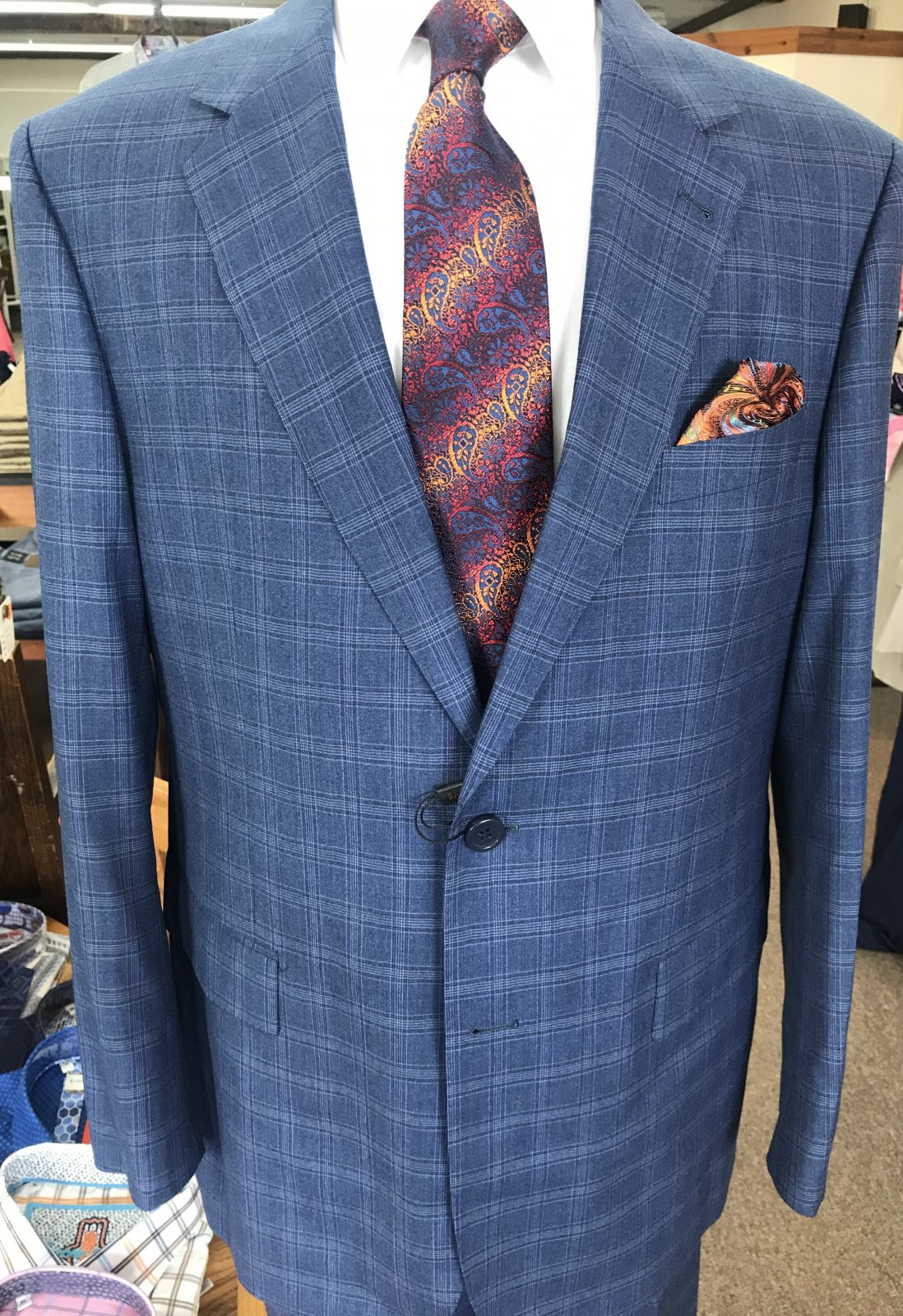 Baroni Blue Plaid Suit BA900/4