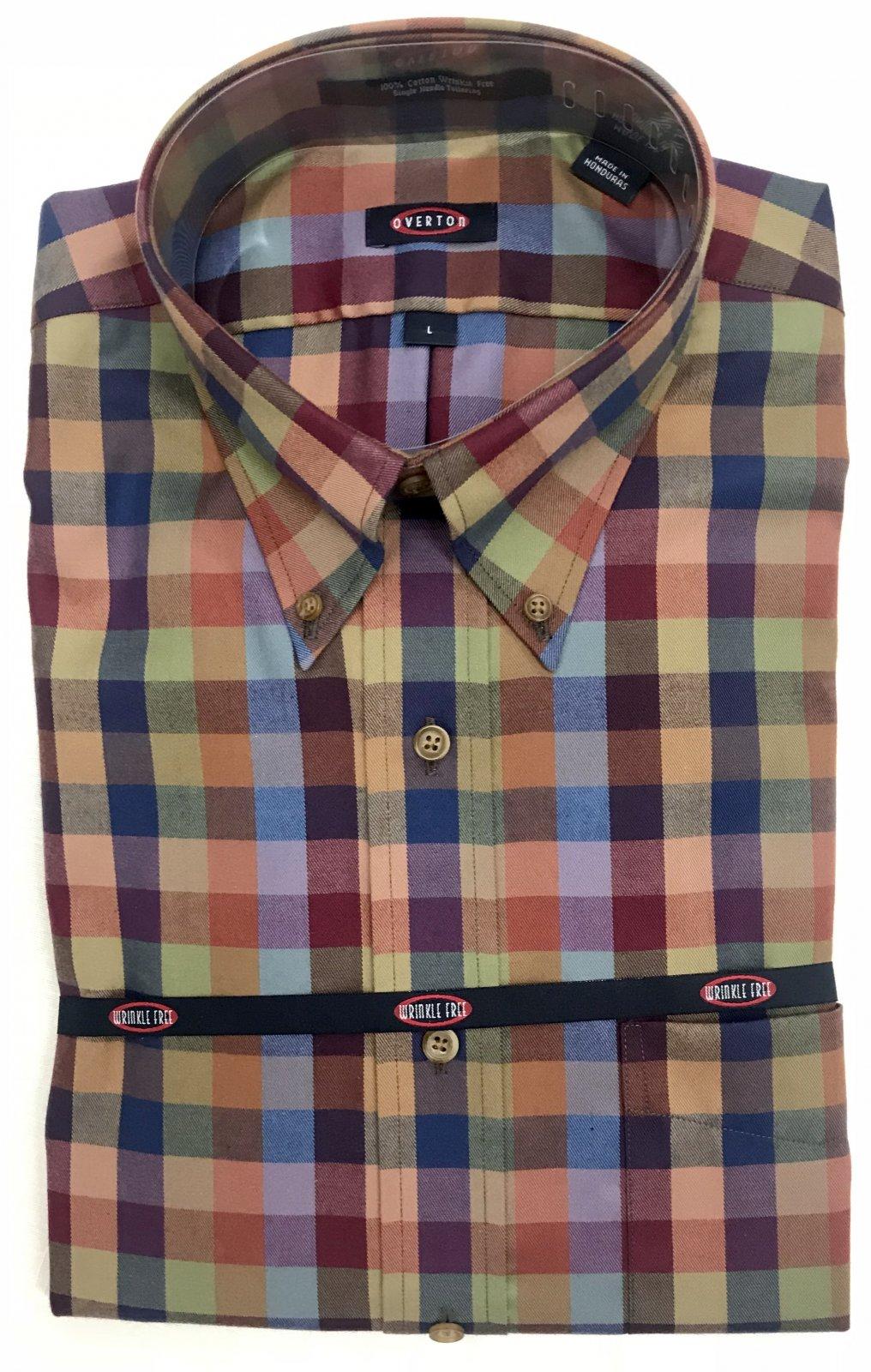 Overton Rust/Blue Check LS Sportshirt