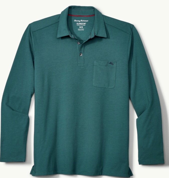 Tommy Bahama Tropicool Sueded Sands L/S Polo