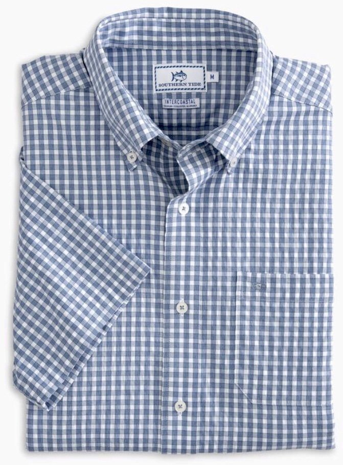 Southern Tide SS Lucayan Gingham Intercoastal Sportshirt 4651