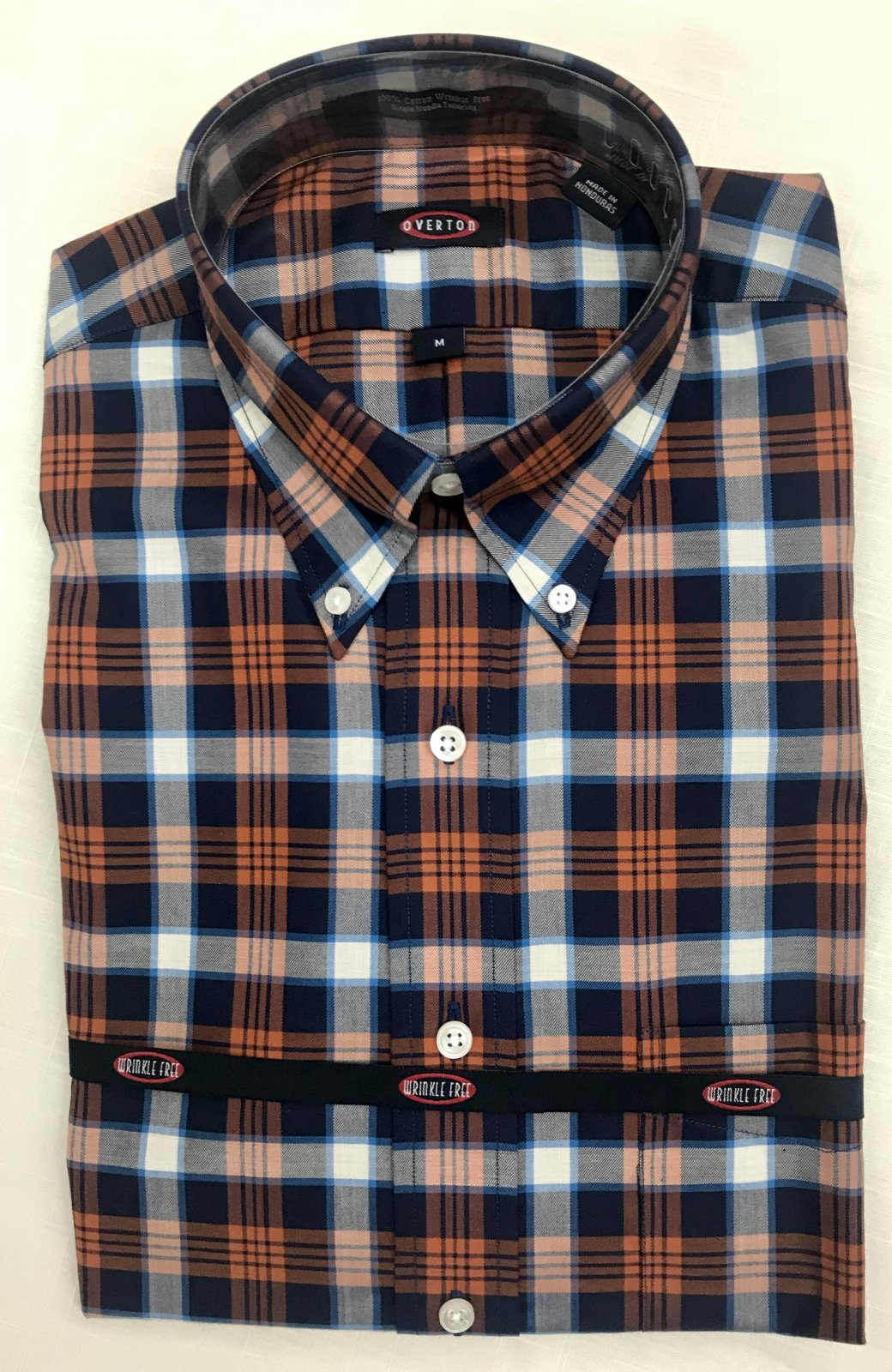 Overton Blue/Rust Plaid LS Sportshirt