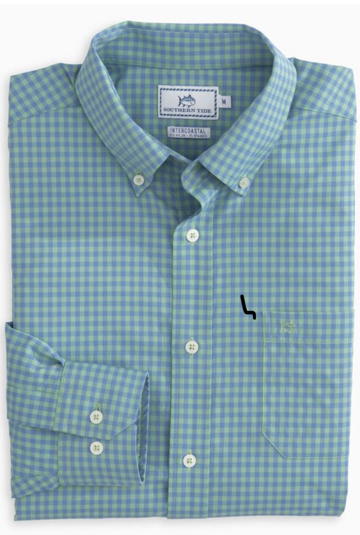 Southern Tide LS Causeway Gingham IC Sportshirt 5014