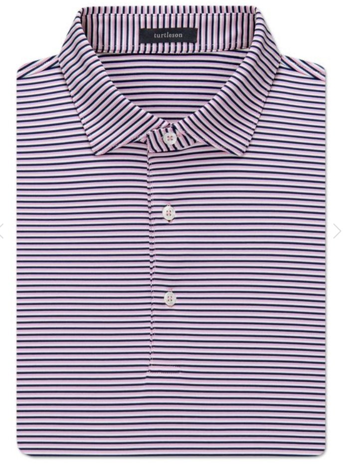 Turtleson Conner Stripe Performanced SS Polo MF19K13