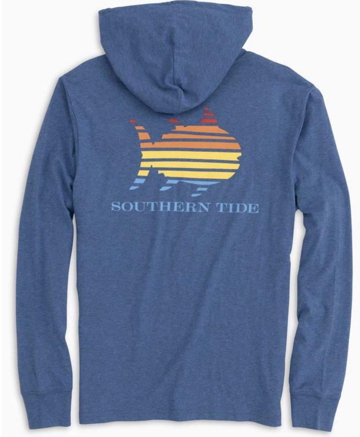 Southern Tide LS Skipjack Gradient Hoodie Tee 5477