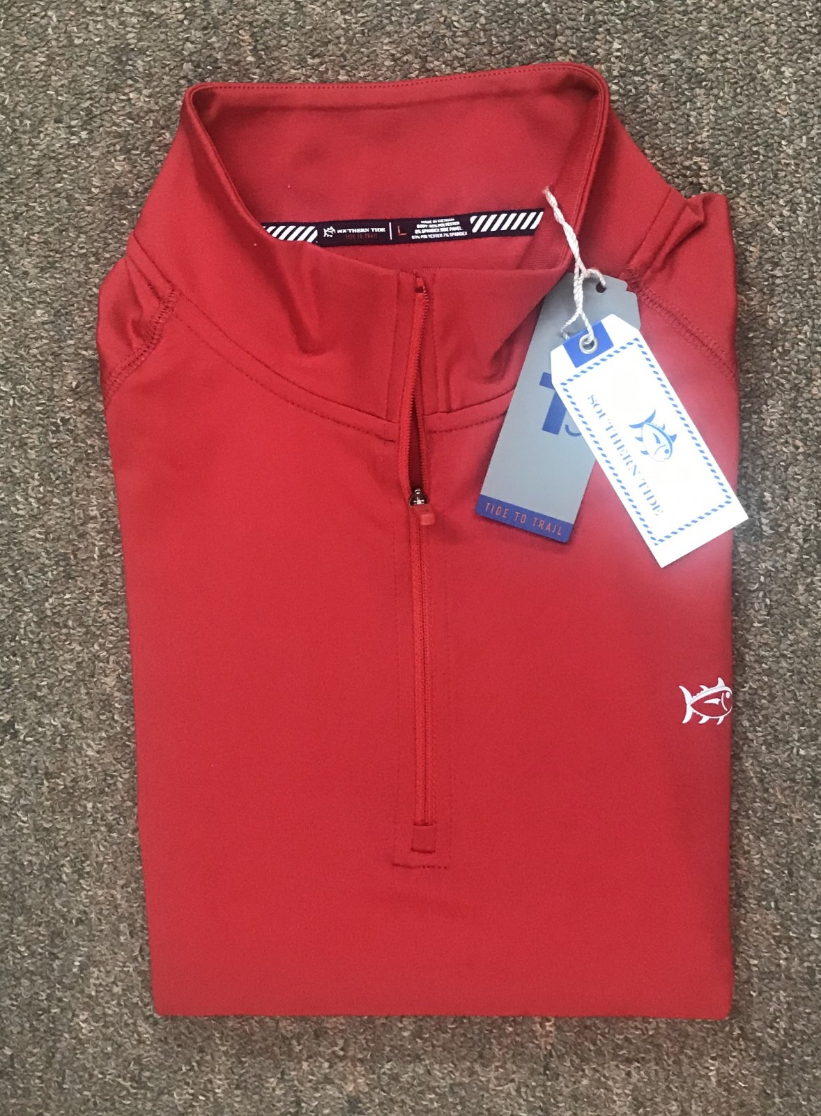Southern Tide Island Performance Quarter Zip 5413
