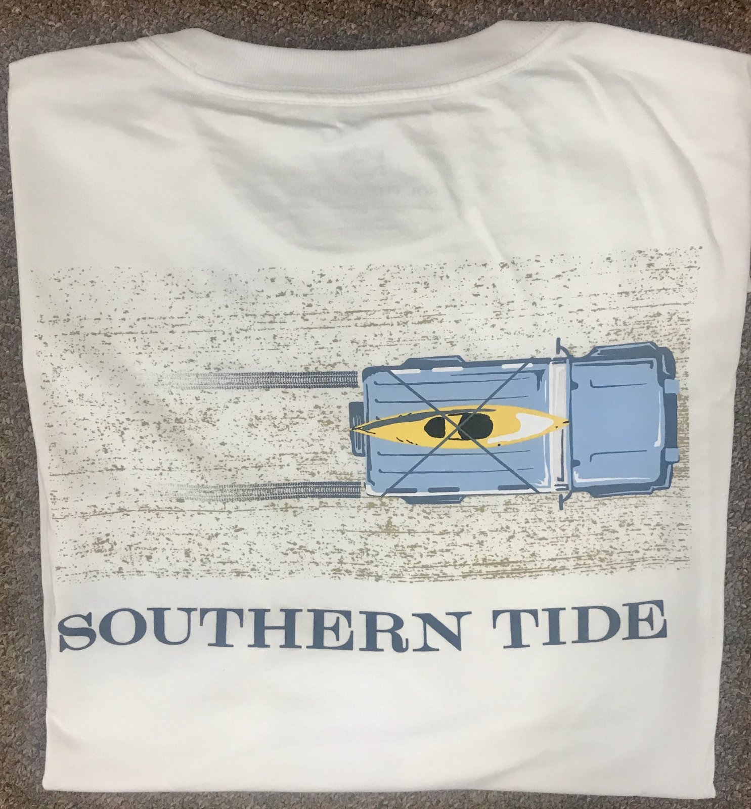 Southern Tide SS Sand Tire Tracks Tee 5475