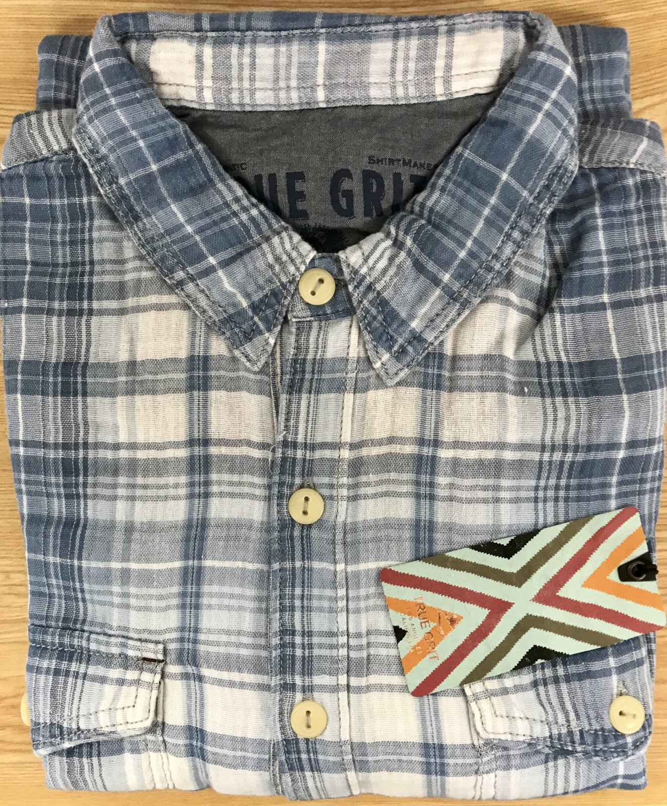 True Grit Indigo Plaid 81M28DBP
