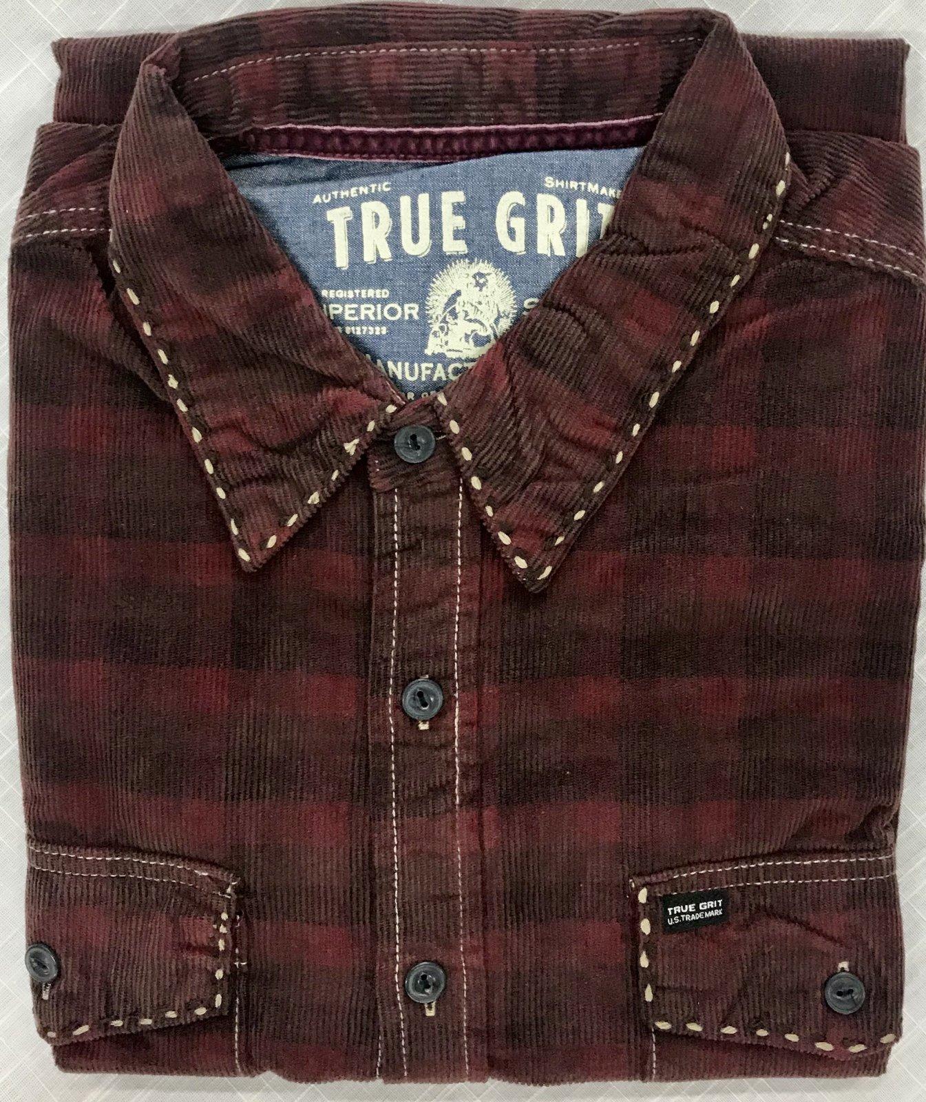 True Grit Vintage Plaid Canyon Cord LS Shirt