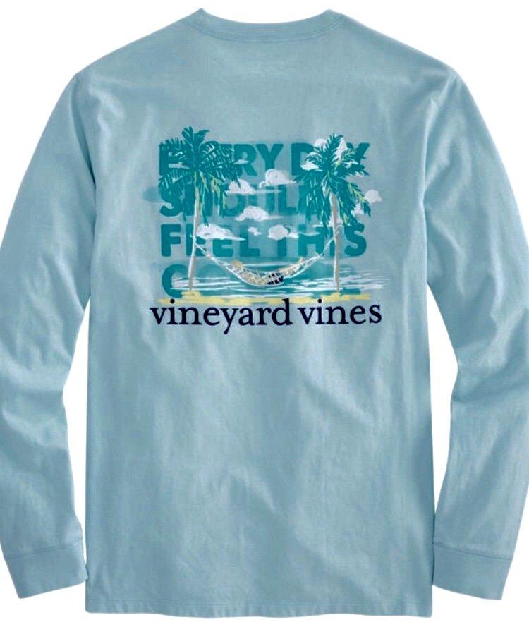 Vineyard Vines Vacation Hammock LS Graphic Pkt Tee 1V000067