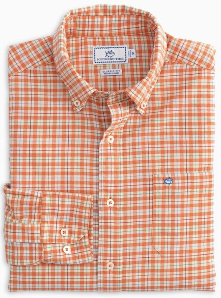 Southern Tide LS Course Plaid Sportshirt  5352