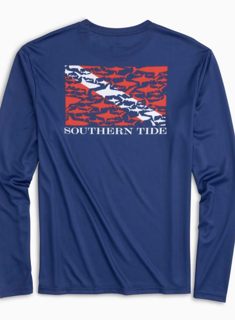 Southern Tide LS Dive If You Dare Perf. Tee 5089