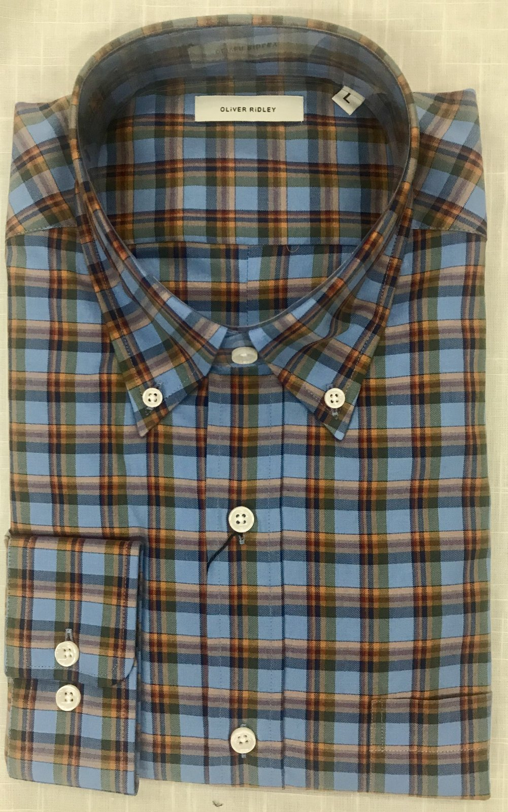 Oliver Ridley Clive Plaid Shirt