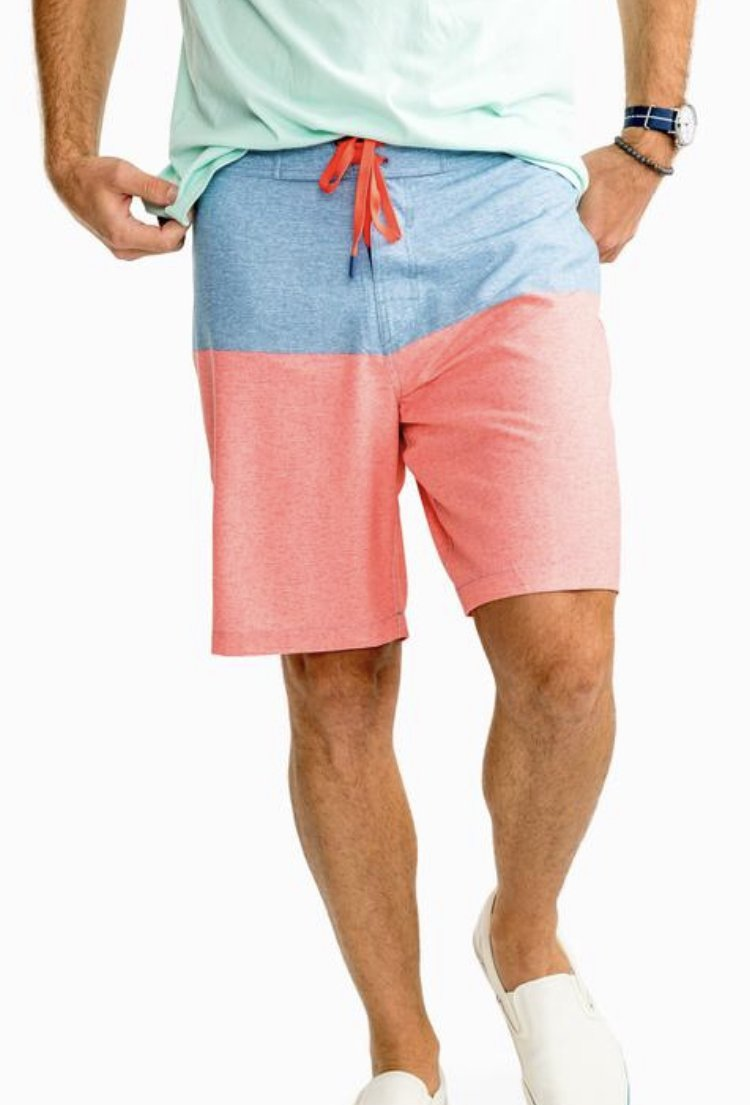 Southern Tide Heather Color Block Water Short 4490