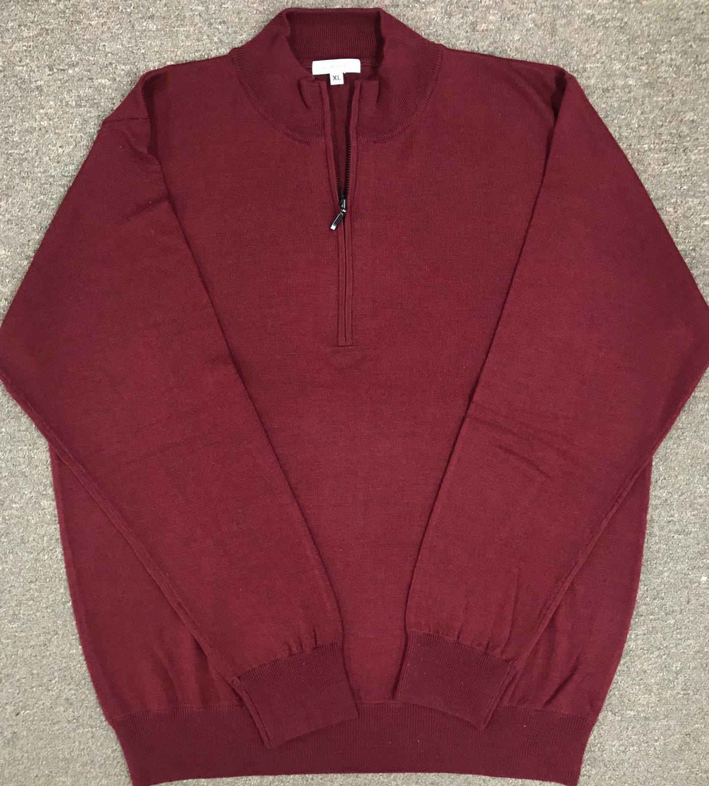 Oliver Ridley Merino 1/4 Zip Sweater