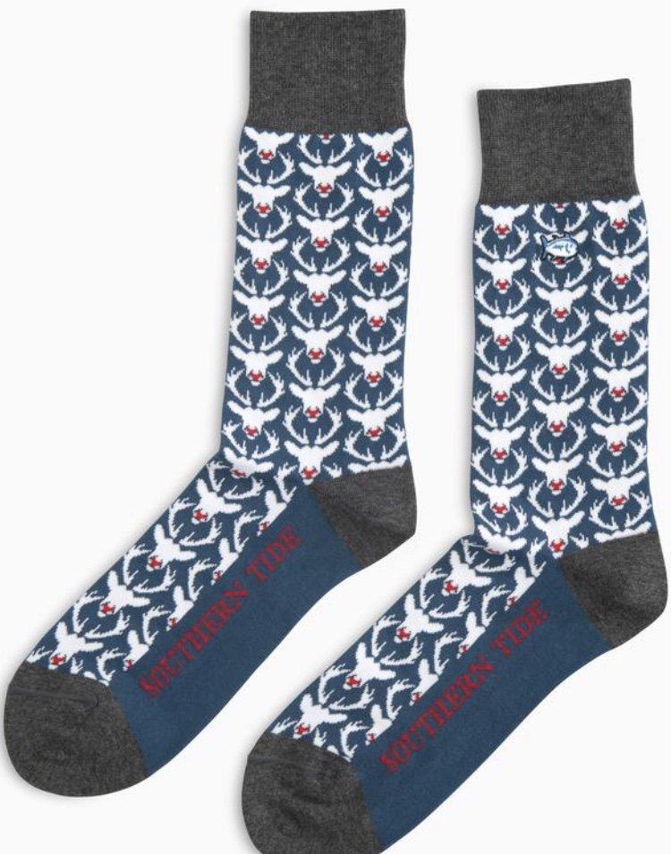 Southern Tide Bro Deer Socks